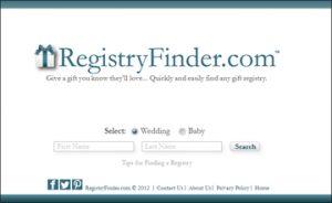 The #1 gift registry finder service is RegistryFinder.com