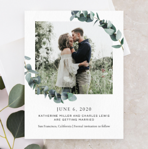 Save-the-dates and Invitations from Zola.com