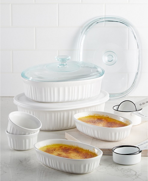 Macy's Top Registry Gifts | Corningware French White Bakeware Set