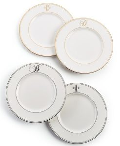 Macy's Top Registry Gifts   Lenox Monogram Accent Plates