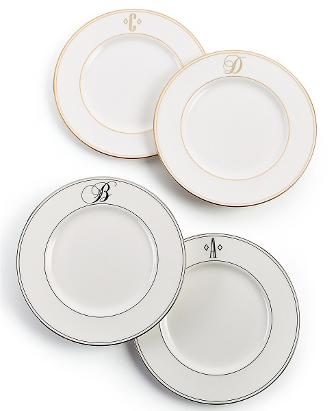 Macy's Top Registry Gifts | Lenox Monogram Accent Plates