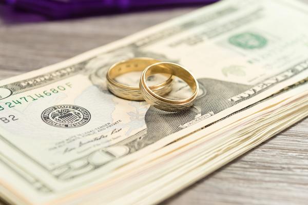 cash wedding gift