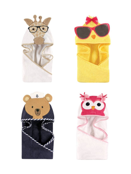 Hudson Baby Woven Terry Animal Hooded Towel
