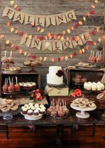 Fall Bridal Shower Dessert Table Decor