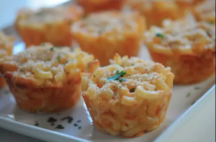 Fall Inspired Wedding Shower Menu | Mac + Cheese Cups
