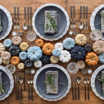 Fall in Love Bridal Shower Decor | Pumpkin tablescape