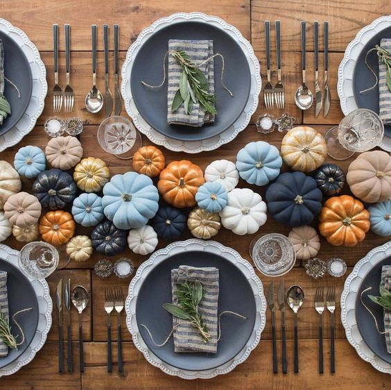 Fall in Love Bridal Shower Decor | Pumpkin tablescape