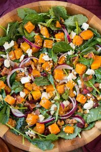 Fall Bridal Shower Menu | Butternut Squash + Bacon Salad