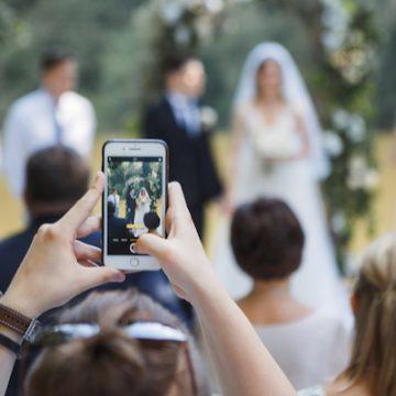 An unplugged wedding ceremony