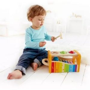 Holiday Gifts for Kids Under 2 | Wooden Musical Instrument Set
