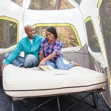 Wedding Registry Gifts Your Groom Will Love | Airbed Cot with Side Table