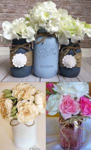 Mason Jars for Bridal Shower