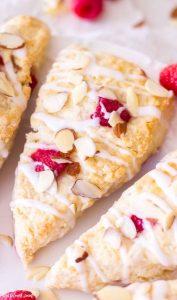 Raspberry Almond Cream Scones for Bridal Shower