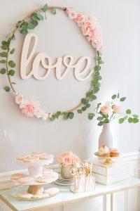 Floral Hoop for Bridal Shower