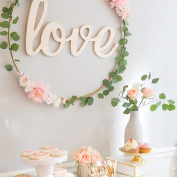 Floral Hoop for Bridal Shower