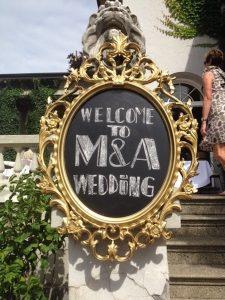 Chalkboard Sign DIY Wedding Sign