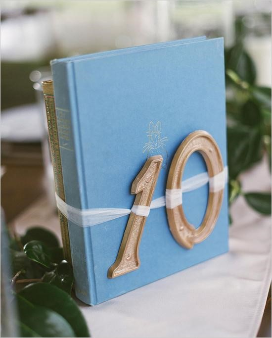 DIY Book Table Numbers