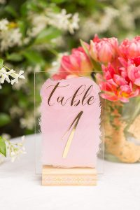 DIY Acrylic Table Numbers