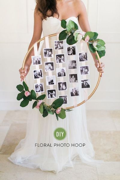 Hula Hoop Wreaths DYI Wedding