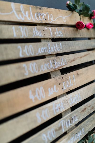 Pallet Signs Wedding DIY