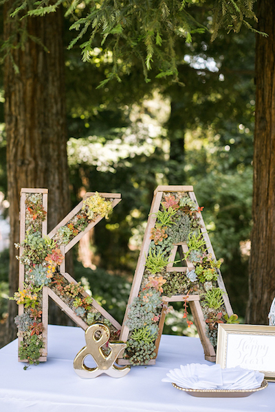 Succulent Letters DIY Wedding Decor