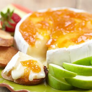 Brie and Apricot Jam