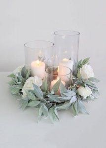Cylinder Vase Centerpiece DYI Wedding
