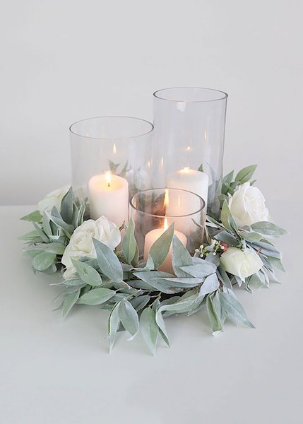 Cylinder Vase Centerpiece DYI Wedding