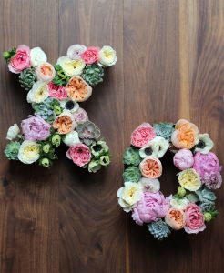 The Best DIY Wedding Ideas: Large Floral Letters