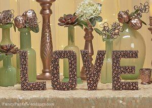 The Best DIY Wedding Ideas: Pearl Letters