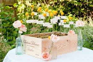 The Best DIY Wedding Ideas: Escort Card Display Box