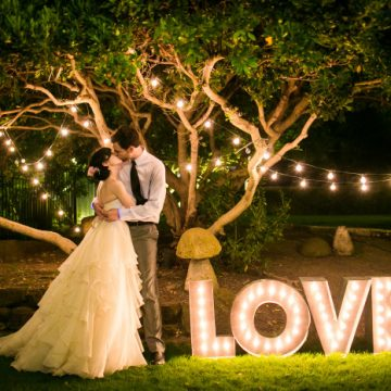 The Best DIY Wedding Ideas: LOVE DIY Marquee Letters