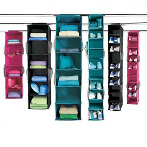 Top Dorm Essentials from Bed Bath and Beyond: Hanging Closet Organizers