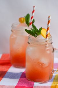 Peach Raspberry Lemonade Spritzer