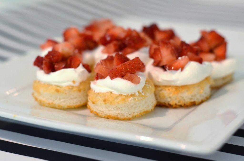 Dessert Tasting Bridal Shower Menu - Strawberry Shortcake