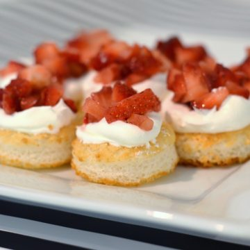 Dessert Tasting Bridal Shower Menu - Strawberry Shortcake