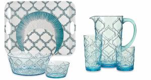 Gifts We Love for Entertaining: Radiance Aqua Melamine Dinnerware and Drinkware