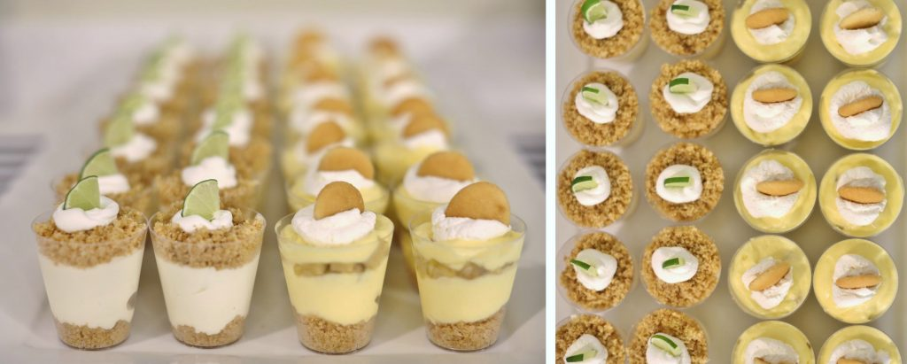 Dessert Tasting Bridal Shower Menu - Mini Key Lime and Banana Cream Pies