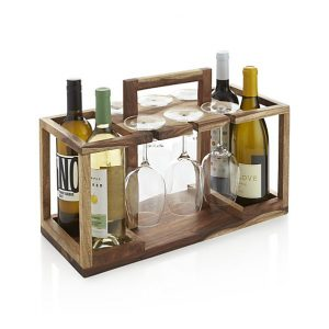 Gifts We Love for Entertaining: Wine Bottle and Glass Caddy