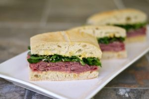 Summer Baby Shower Recipes - Roast Beef & Arugula Sandwich