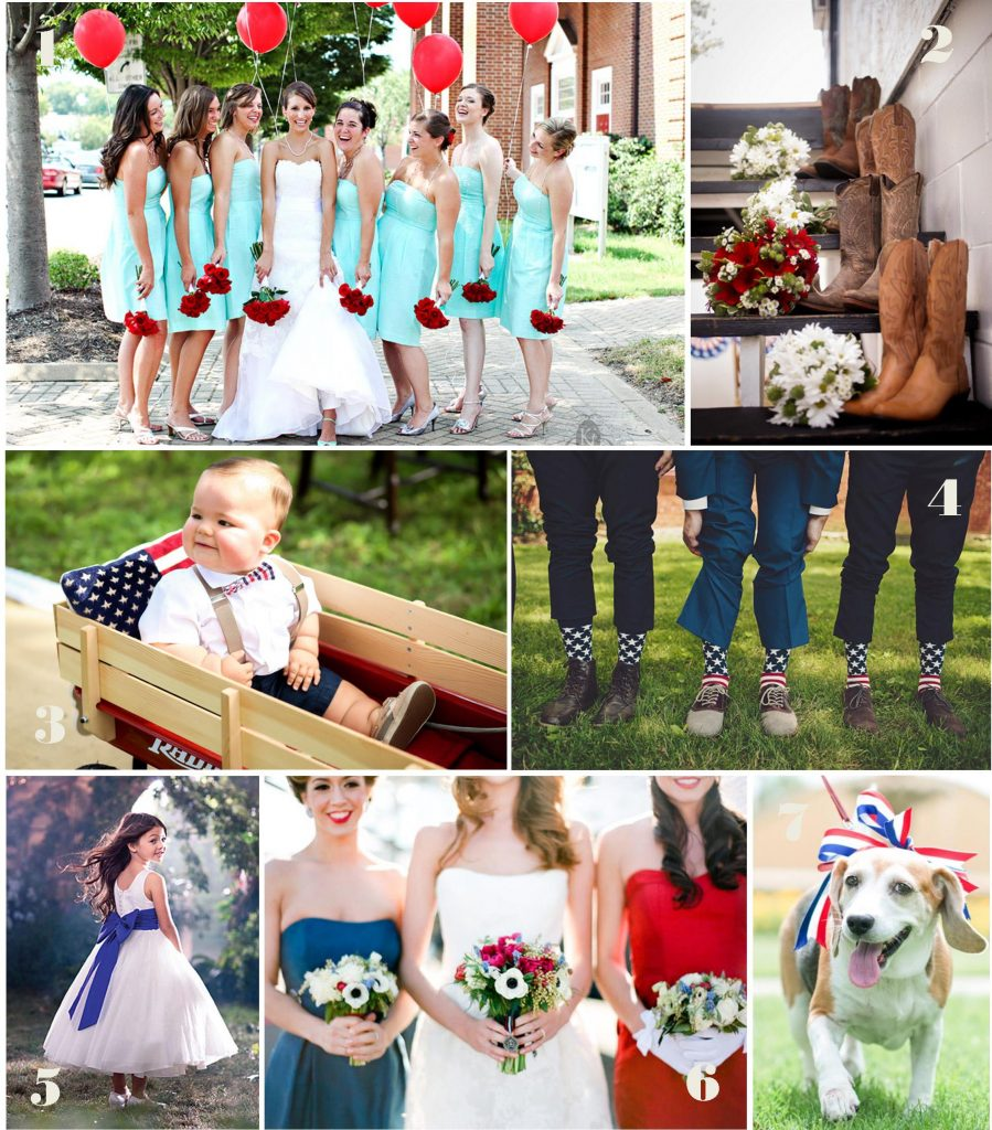Fourth of July Wedding Inspiration: The Attendants
