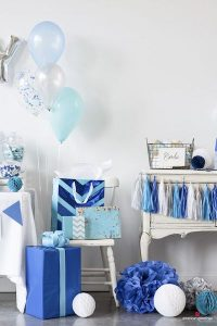 blue white party