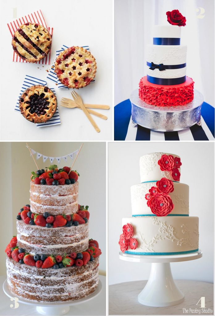 Fourth of July Wedding Inspiration: The Cake