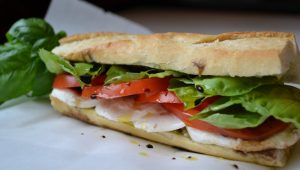 Cool and Easy Summer Baby Shower Menu - Caprese Sandwich