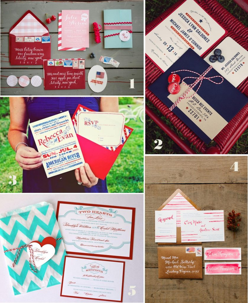 - Fourth of July Wedding Inspiration: The Invitations