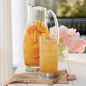 Cool and Easy Summer Baby Shower Menu - Summer Peach Tea Punch