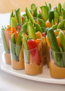 Cool and Easy Summer Baby Shower Menu - Veggie Cups