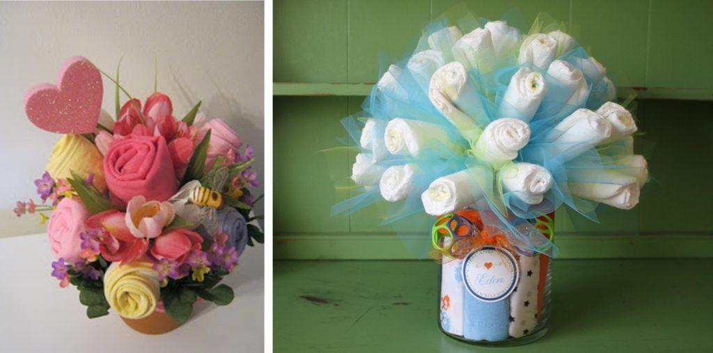DIY Baby Shower Ideas: Diaper Bouquet