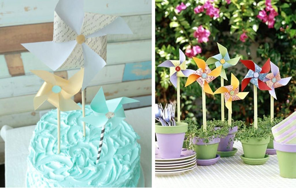 DIY Baby Shower Ideas: Pinwheels
