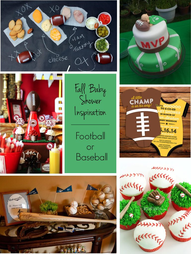 Fall Baby Showers: Football or Baseball Baby Shower Theme | RegistryFinder.com